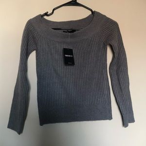 Sweaters - NWT grey off the shoulder sweater